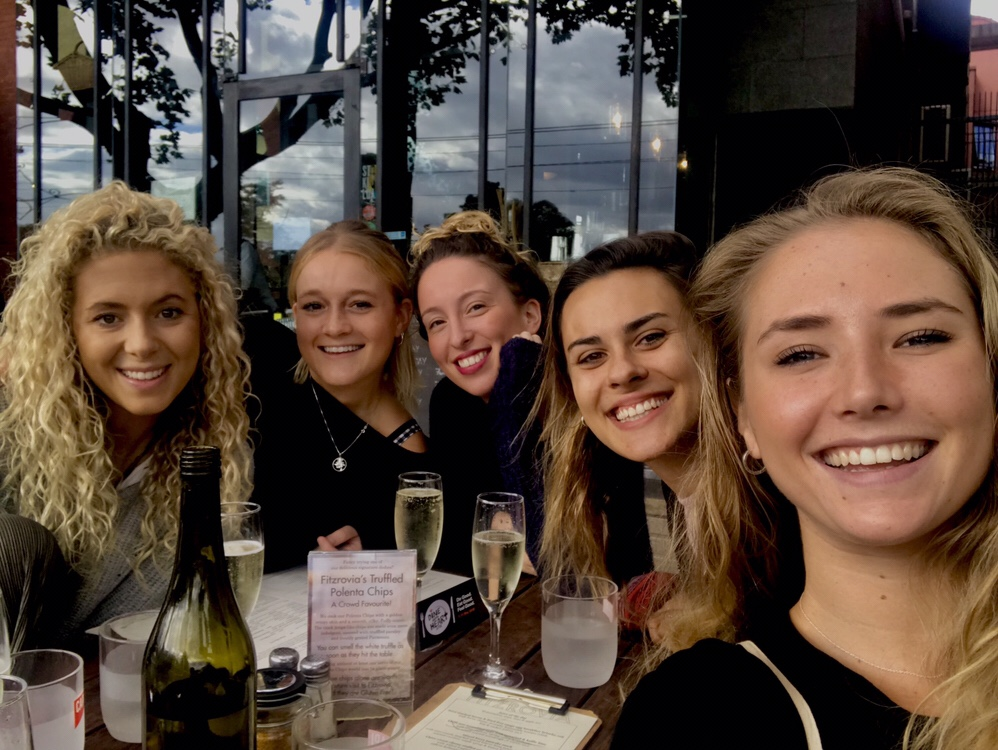 All the girls looking fab for brunch